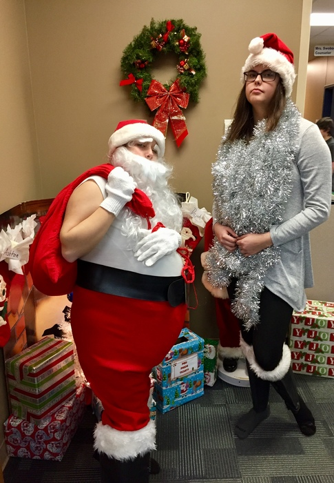 Santa came to the Waubun School today!