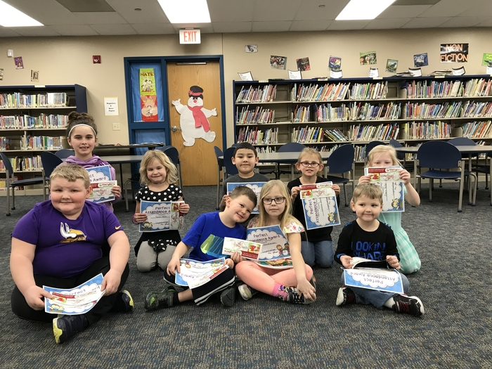 KS-2nd Grade Perfect Attendance for 1st Semester