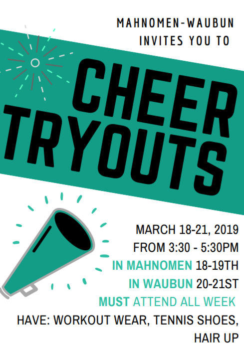 Cheerleading tryouts