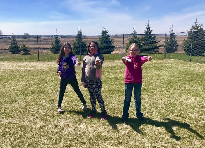 "These 3 wonderful girls were caught being good - picking up garbage on the playground during their free time! ""We just want what is best for our playground!"" 😀❤️🌎"