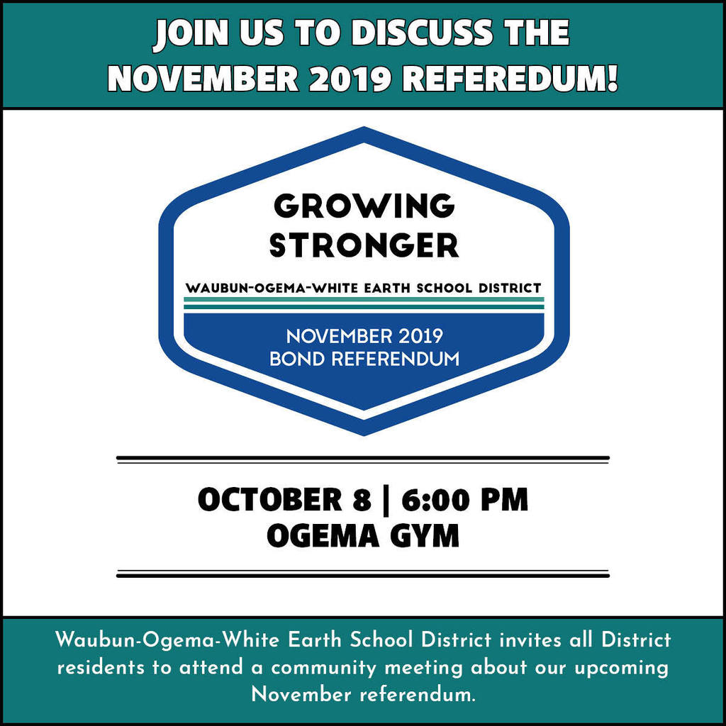 Please attend the meeting tomorrow at 6pm in the Ogema Gym.