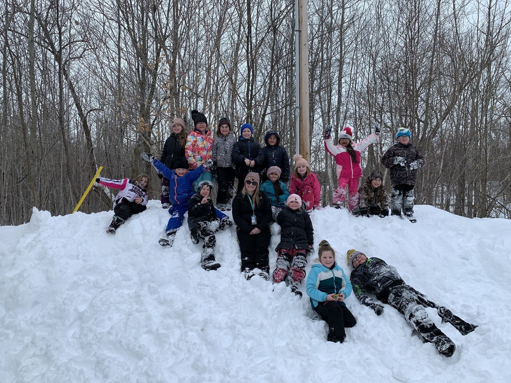 Mrs. Oertwich's class had a great day skiing at the school forest! It was beautiful out!